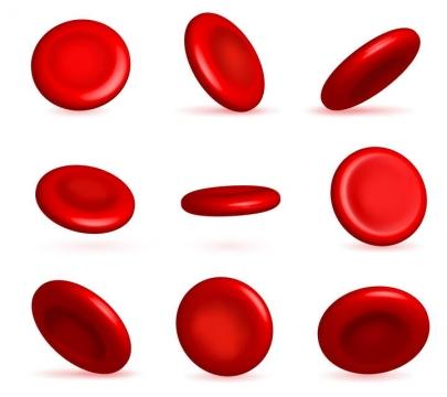 9款各种不同角度的红细胞人体组织器官免扣图片素材