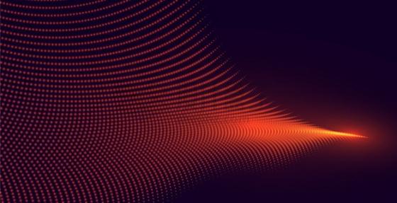 橙色粒子量子波动抽象黑色背景图7927481png图片素材