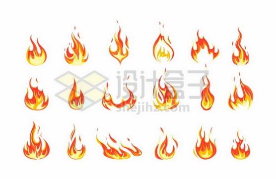 18款燃烧着的火苗火焰图案133326png矢量图片素材