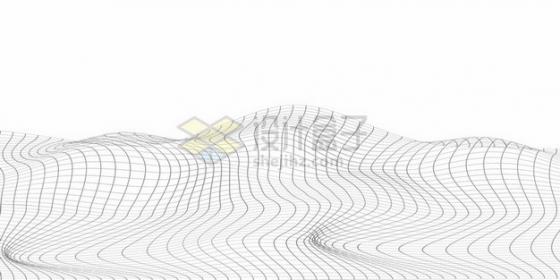 线条方格线组成的地形图装饰487606png矢量图片素材