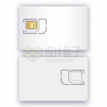 空白的SIM手机卡png图片免抠矢量素材