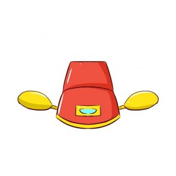 卡通古代官帽明朝官员戴的帽子戏曲帽子乌纱帽png图片素材