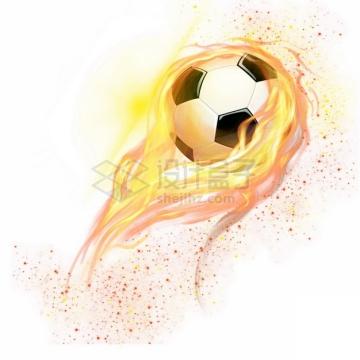 燃烧着火焰的足球特效果9839287png图片素材