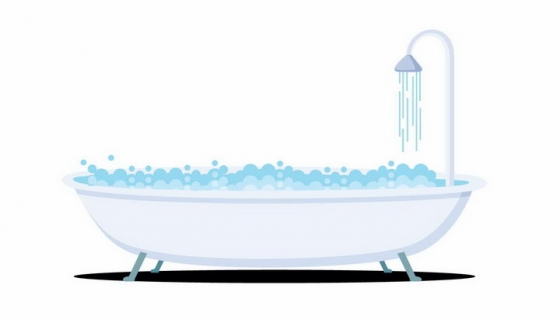 正在放水的卡通浴缸png图片免抠矢量素材