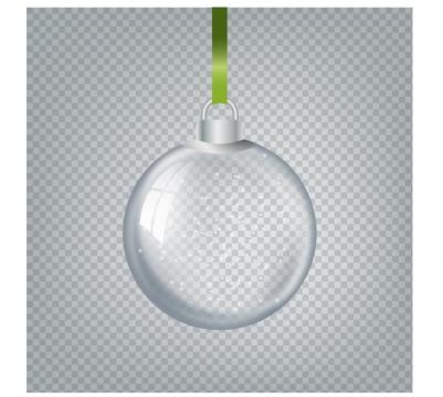 半透明的圣诞节装饰圣诞球图片免抠矢量图