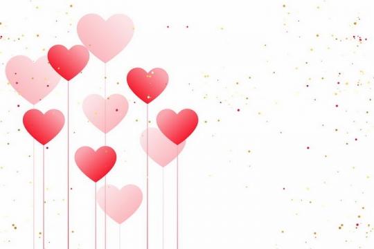 吊着红绳的心形红心图案情人节png图片免抠矢量素材