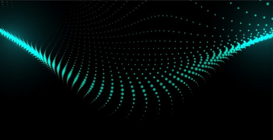蓝色粒子量子波动抽象黑色背景图3187659png图片素材