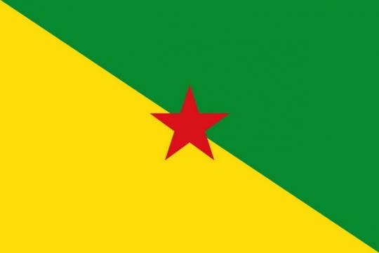 标准版法属圭亚那国旗图片素材
