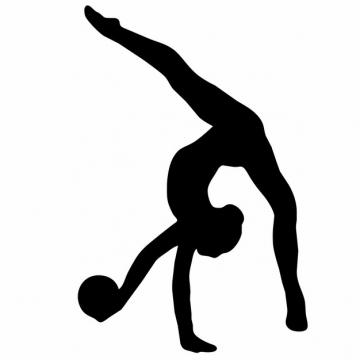 柔美艺术体操美女人体剪影png图片素材355247