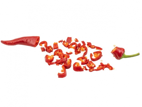 切碎的红辣椒png图片素材
