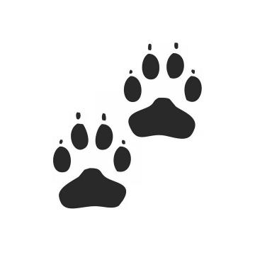 两个猫脚印狗脚印动物脚印图案图片png免抠素材