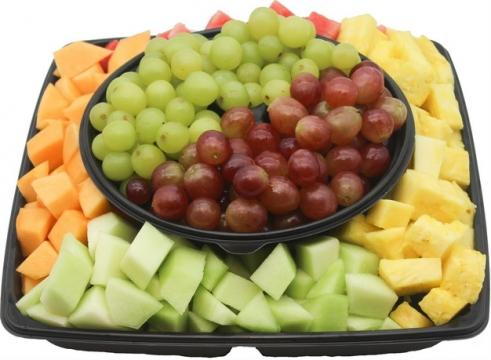 提子葡萄西瓜香瓜哈密瓜菠萝等水果拼盘167588 png图片素材