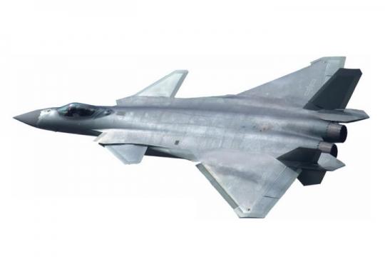 超酷金属质感歼20战斗机俯视图png免抠透明图片