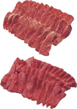 切片的雪花牛肉和普通牛肉723099png图片素材