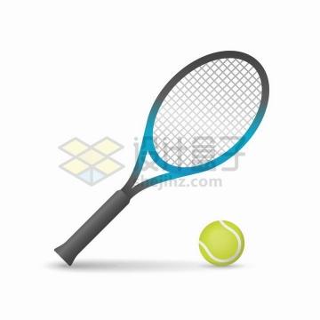 网球和球拍体育球类png图片免抠矢量素材