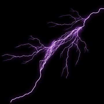 紫色的闪电效果262993png图片素材