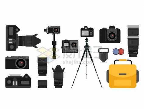 数码相机照相机三脚架镜头等相机配件489161png矢量图片素材