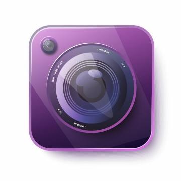 紫色照相机镜头APP图标png图片免抠矢量素材