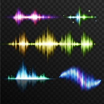 彩色声音声波音波效果图片免抠矢量图素材