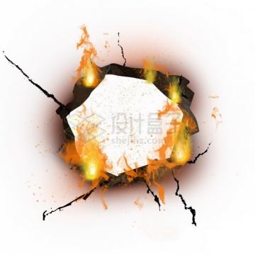 燃烧着火焰的纸张特效果132357png图片素材