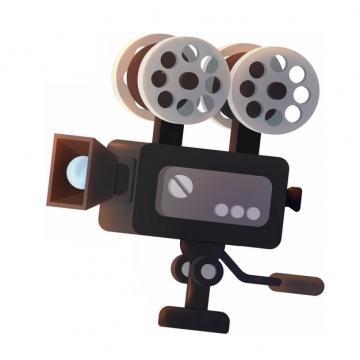 复古风格的摄像机电影放映机849815png图片素材