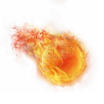 燃烧着火焰的篮球特效果545892png图片素材