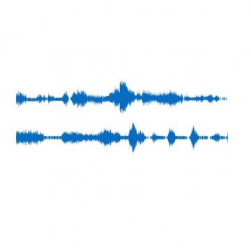 两条蓝色的声波图案442867 png图片素材