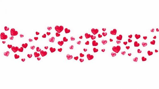 手绘风格的红心红色心形符号图案情人节装饰png图片免抠eps矢量素材