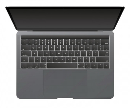 俯视视角的MacBook Air笔记本电脑图片免抠素材