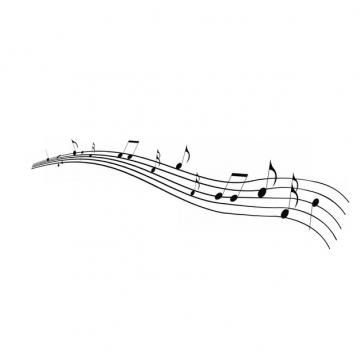 黑色的音乐五线谱821542 png图片素材