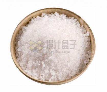 碗中的食盐盐粒png图片素材