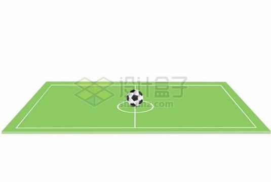 足球场中心的一个足球442341png图片素材