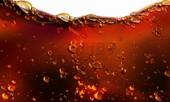 冒着气泡水泡的可口可乐啤酒等液体效果png图片素材