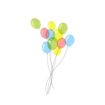 彩色半透明简约手绘气球图片免抠装饰素材