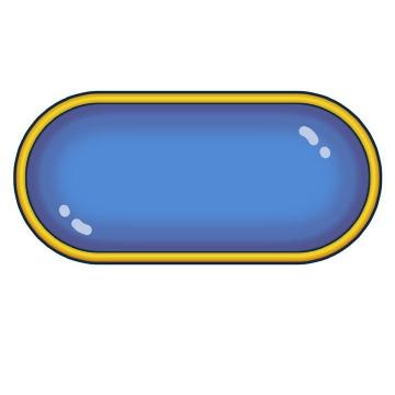 高光风格蓝色水晶按钮图片免抠素材
