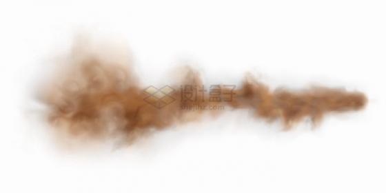 深褐色的灰尘沙尘暴污染烟雾png图片免抠矢量素材