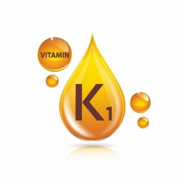 黄色油滴叶绿基甲萘醌维生素K1营养元素维他命保健品png图片免抠EPS矢量素材