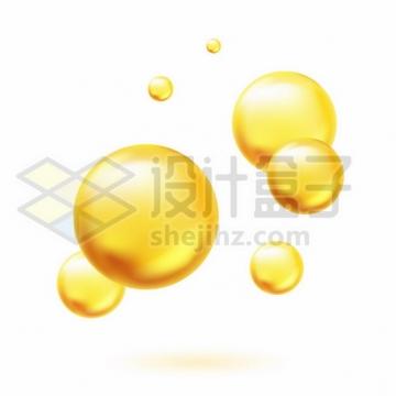黄色油滴气泡水泡433136png图片素材