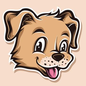 手绘风格可爱卡通小狗头像图片免抠素材