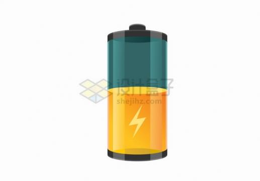 半透明的充电电池图标png图片素材