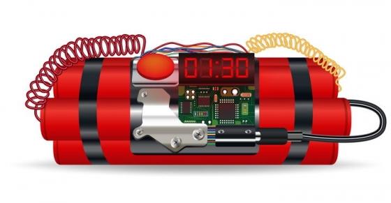 带电路电线倒计时装置额定时炸弹图片免抠素材