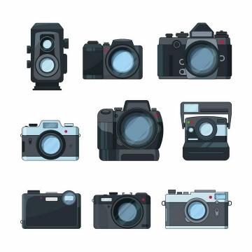 9款照相机和闪光灯造型png图片免抠矢量素材