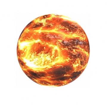 充满火光的太阳3D渲染图957002