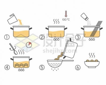 煮面条流程步骤图840815png图片素材