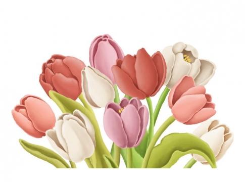 捏橡皮泥手工制作的粉色白色百合花鲜花花朵作品图片设计模板素材