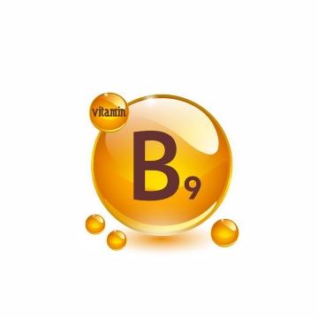 叶酸维生素B9油滴维他命B9软胶囊保健用品营养元素png图片免抠矢量素材