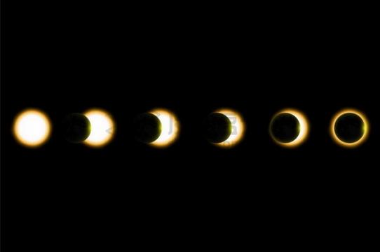 日环食的过程141240png矢量图片素材