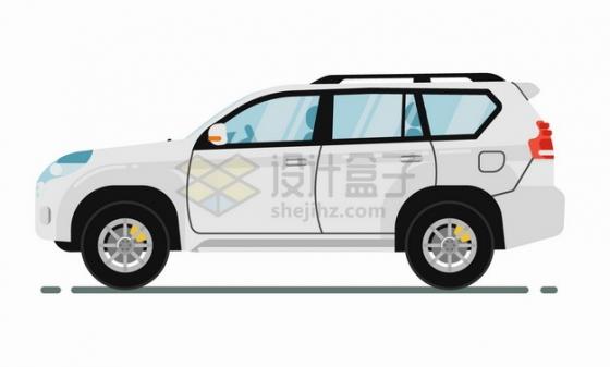 白色的SUV汽车侧视图png图片素材
