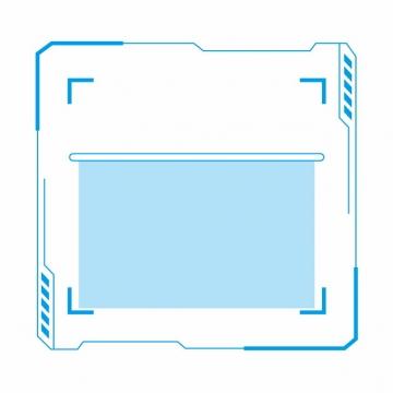 蓝色扫码扫一扫二维码装饰边框174528AI矢量图片素材