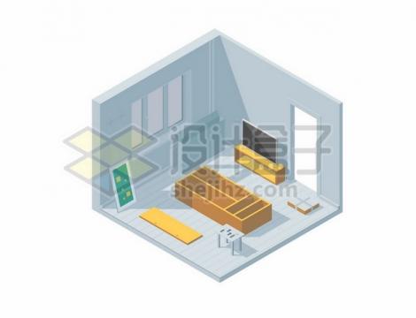 3D风格室内装修组装家具剖面图396827图片免抠矢量素材
